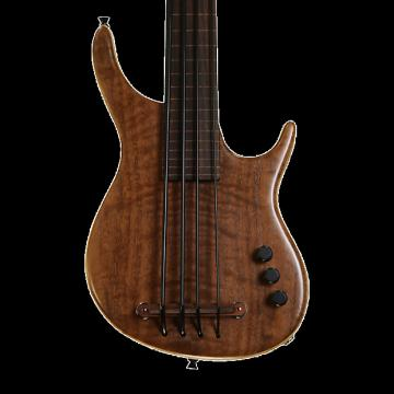Custom Kala KA-SB4FL-WLNT 4-String Fretless UBASS - Exotic Walnut with Gig Bag