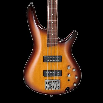 Custom Ibanez SR370EF Fretless 4-String Bass - Brown Burst