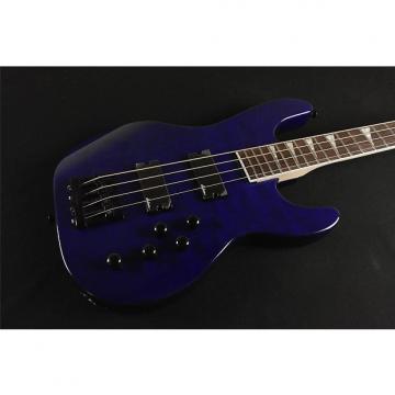 Custom Jackson JS3QM Concert™ Bass - Rosewood Fingerboard - Transparent Blue (16A)