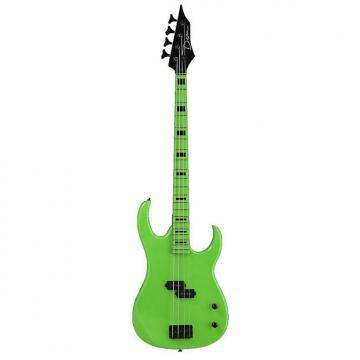 Custom Dean Florescent Green 4-String Bass Florescent Green w/Dimarzio Strap