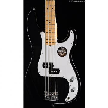 Custom Fender American Standard Precision Bass Black, Maple (070)