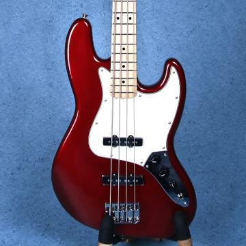 Custom Fender Standard Jazz Bass 4 String Electric Bass Guitar - Candy Apple Red MX15568123