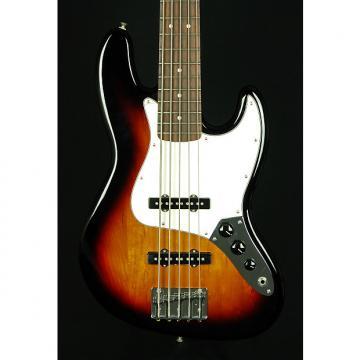 Custom New! Fender MIM Standard Jazz Bass V 5-String Electric Bass - Brown Sunburst
