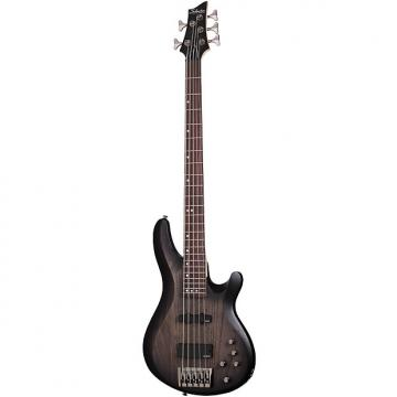 Custom Schecter C-5 Custom Trans Black Satin TBS 5-String *B-Stock* Bass Guitar C5 C 5