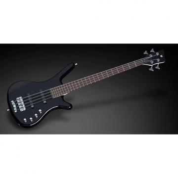 Custom Warwick RockBass Corvette Basic 4-String Active Bass Guitar Black High Polish