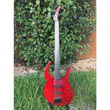 "Custom Parker Fly Bass 5 String 2003 Red ""Time Machine"" Instrument"
