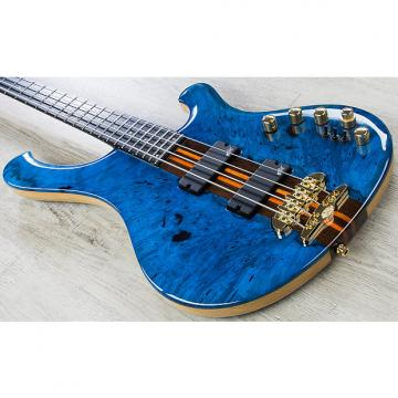 Custom Mayones Custom PI 3 Slap Machine Wojtek Pilichowski Signature Electric Bass in Transparent Blue