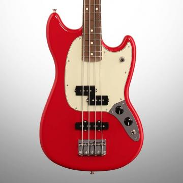 Custom Fender PJ Mustang Electric Bass, Torino Red