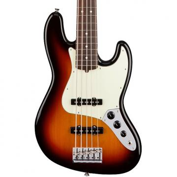 Custom Fender American Pro Jazz V Electric Bass, 5-String (Rosewood Fingerboard), 3-Color Sunburst