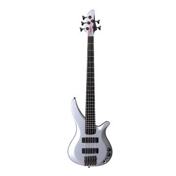 Custom Yamaha  TRBX 775 Silver 5 String Bass w/ Gator Feather-light Hardcase