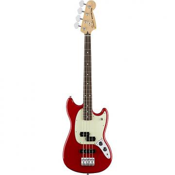 Custom Fender Mustang Bass PJ Torino Red 4-String Electric Bass