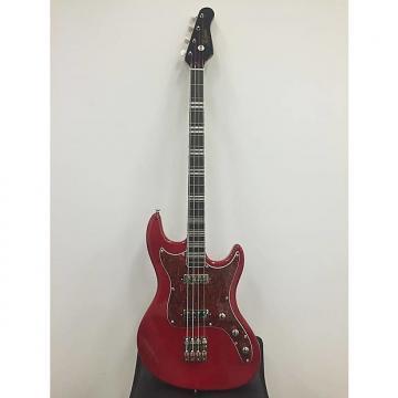 Custom Hofner Galaxie Four String Electric Bass Guitar in Metallic Red