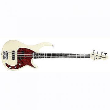 Custom Peavey Milestone 4-String Maple Neck Beginner Starter Electric Bass Guitar Ivory