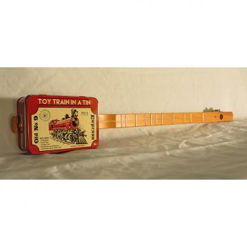 Custom CANJO / Strumstick / Diddly Bow / Cigar Box Guitar with Rail Road Graphics by Uncle Buck