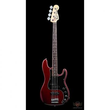 Custom Pre-Owned Fender American Deluxe Precision Bass RW - Wine Transparent (035)