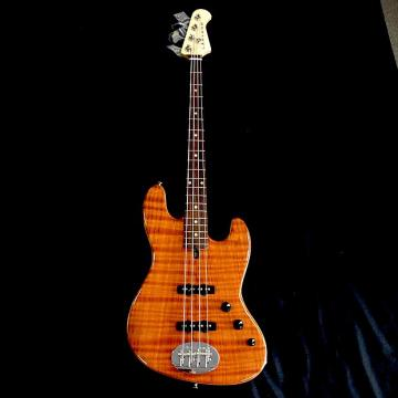Custom Rare Lakland USA 44-60 Custom Flamed Redwood 4 String Jazz Bass