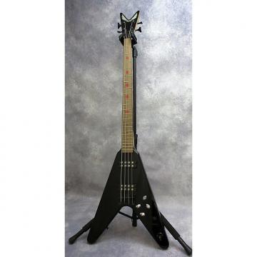 Custom Dean V Metalman 4 String Electric Bass Guitar  Black