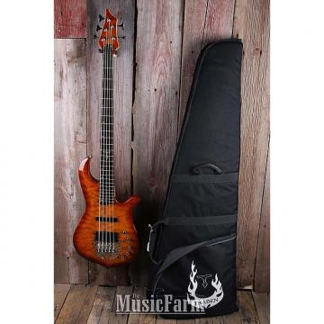 Custom Traben 5 String Electric Bass Guitar Ash Body Flame Maple Top with Gig Bag