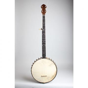 Custom Vega  Regent 5 String Banjo (1925), ser. #66404, black hard shell case.