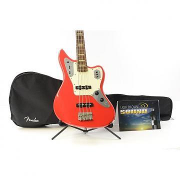 Custom 2007 Fender Jaguar Electric Bass Guitar - Hot Rod Red w/Fender Gig Bag- Active