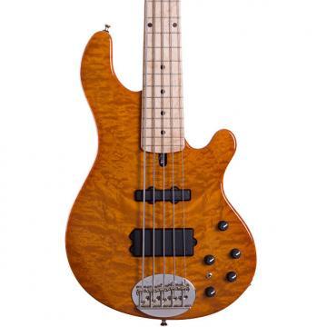Custom Lakland 55-94 Deluxe 2016 Amber 5-String