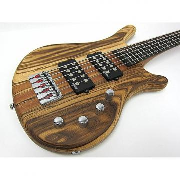 Custom Kona 5 String Bass Zebra Wood - Model: KWB5Z