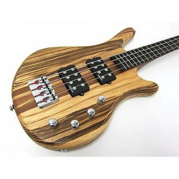 Custom Kona 4 String Bass Zebra Wood - Model: KWB4Z