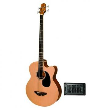 Custom Trinity River Acoustic/Electric Bass Guitar with Spruce Top Model: OB3CENSZ