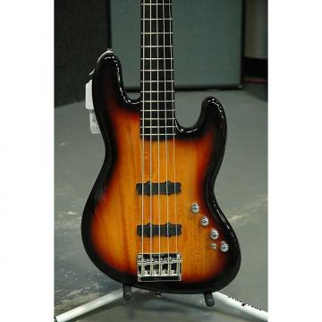 Custom Squire Deluxe Active Jazz Bass V - 3-Tone Sunburst