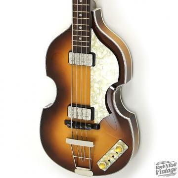 Custom Hofner Birdseye Maple 500/1 V62 Violin Bass Dark Burst B-Stock