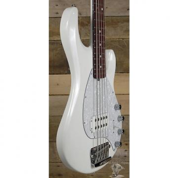 Custom Music Man Stingray 5 String Bass Guitar Neck Thru White Finish w/ Case -Sale Price Through October