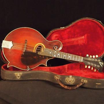 Custom 1914 Vintage Gibson F-2 Mandolin Reddish- brown with Original Hardshell Case