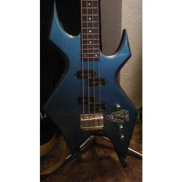 Custom BC Rich Warlock bass Platinum series Blue