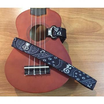 Custom Master Strap Ukulele Strap - Black Bandana