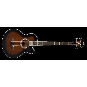 Custom Ibanez AEB10E Acoustic-Electric Bass Guitar in Dark Violin Sunburst High Gloss F