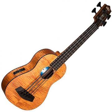 Custom Kala UBASS EM FSRW Exotic Mahogany A/E Ukulele Bass