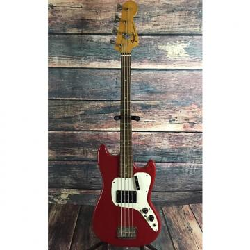Custom Fender Musicmaster Bass 1971 Red with hard shell case