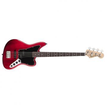 Custom Fender Squier Vintage Modified Jaguar Bass Crimson Red