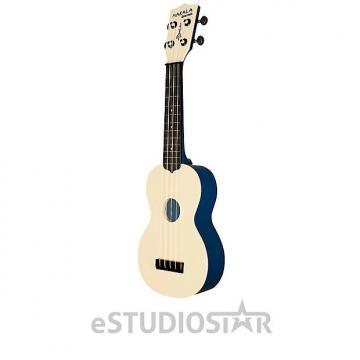 Custom Kala MK-SWT/BL MAKALA Waterman Soprano Ukulele Translucent Blue