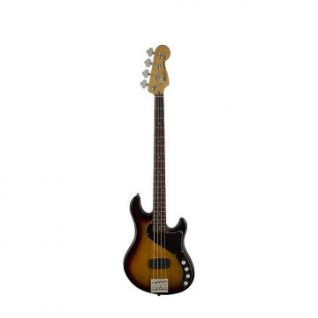 Custom Squier (Fender) Deluxe Dimension Bass IV 3-Tone Sunburst 4-String Electric Bass