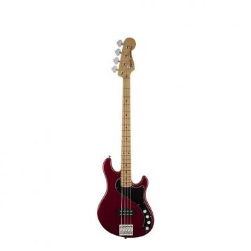 Custom Squier (Fender) Deluxe Dimension Bass IV [DISPLAY MODEL] Crimson Red Transparent 4-String Electric B