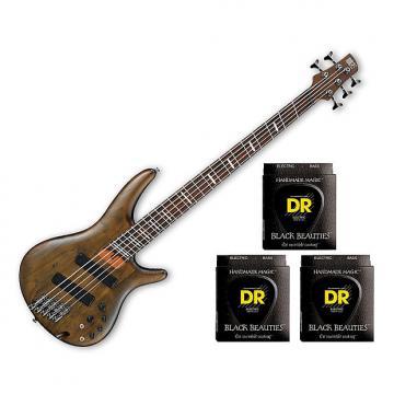 Custom Ibanez SRFF805 5-String Multi-Scale - Walnut Flat w/3 Sets DR Strings BKB545