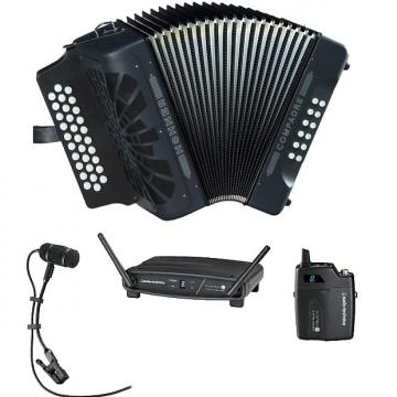Custom Hohner Compadre Accordion FBbE FA with Gig Bag & Audio-Technica Wireless System