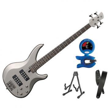 Custom Yamaha TRBX304 Electric Bass Pewter Bonus Kit