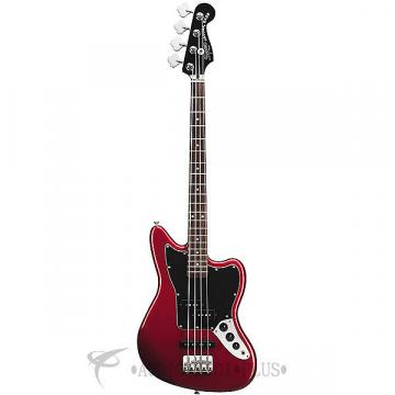 Custom Fender Squier Vintage Modified Jaguar Special SS RW FB 4/S Electric Bass Guitar Candy Apple Red