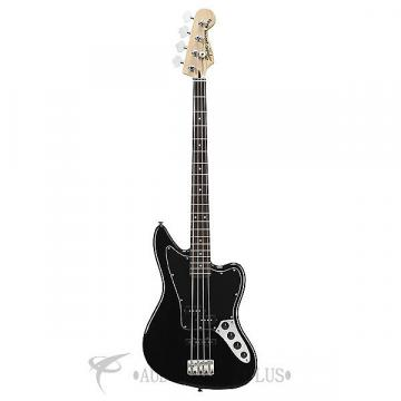 Custom Fender Squier Vintage Modified Jaguar Special Rosewood FB Electric Bass Black - 0328900506
