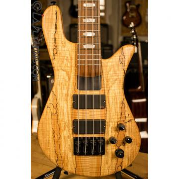 Custom USA Spector NS-4H2 Spalted Maple 4 String Bass Guitar