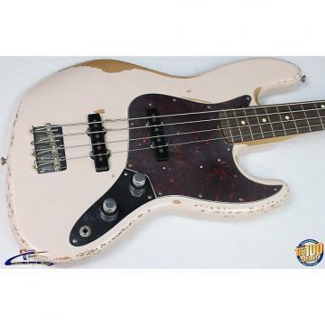 Custom Fender Flea Jazz Bass w/ Gig Bag, Roadworn Shell Pink, Rosewood FB, NEW! #34925