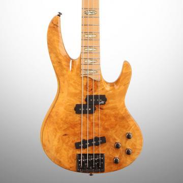 Custom ESP LTD RB1004 Electric Bass, Burl Maple Honey Natural