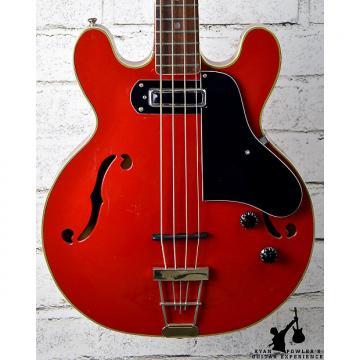 Custom Vintage 1970s Electra Japan Hollowbody Bass Red